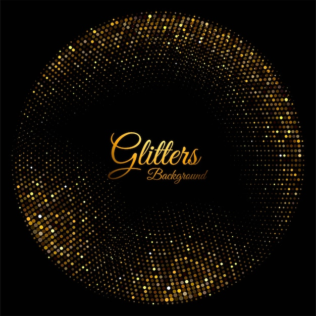 Modern shiny golden sparkles Free Vector