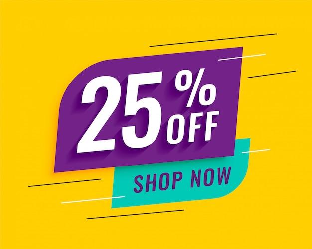 Modern shopping banner design background Free Vector