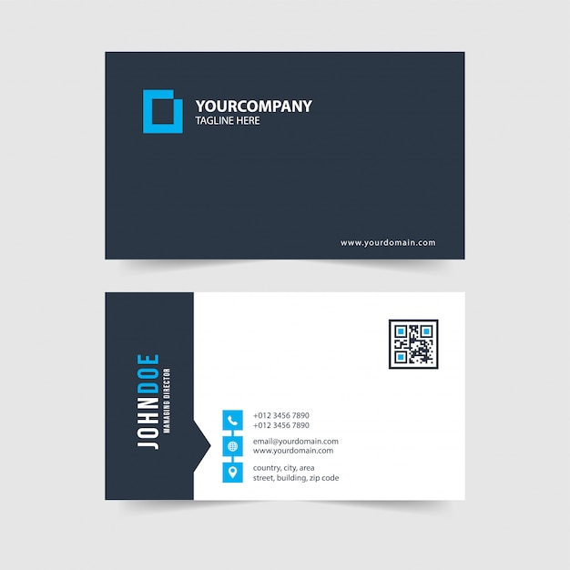 Modern simple business card template collection.vol.96 Premium Vector