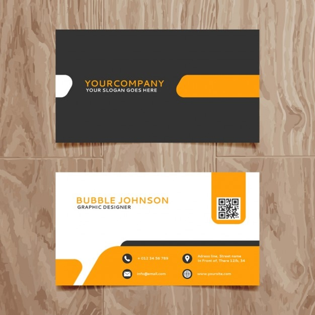 Modern Simple Business Card Template Vector Free Download - Business card design templates free