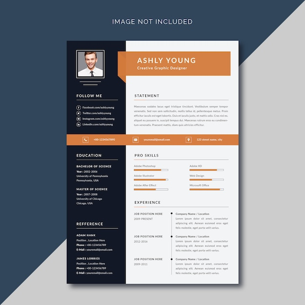 Modern Simple Resume Cv Template Premium Vector
