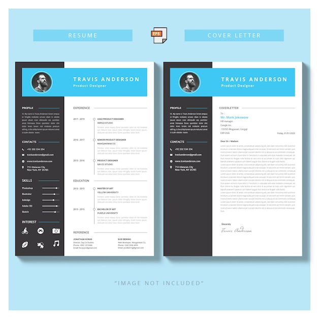 Modern simple template for curriculum and cover letter ...