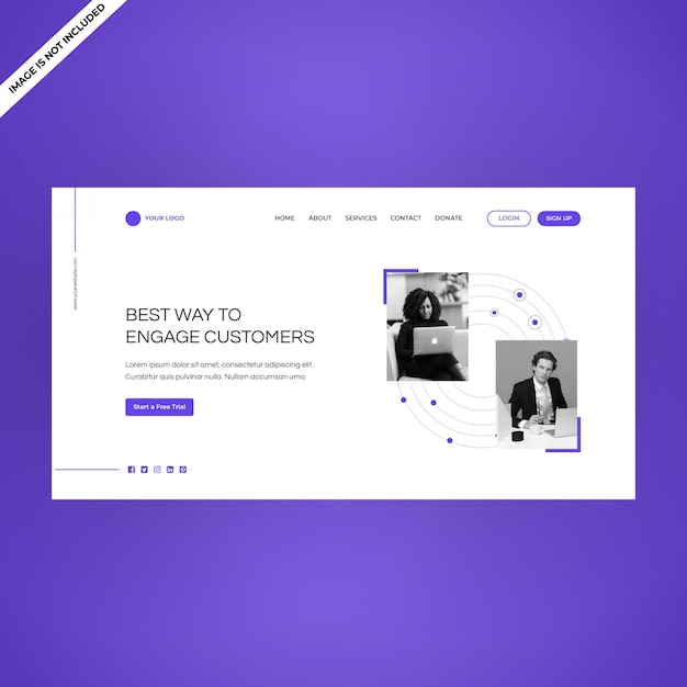 Modern single page product web landing page multipurpose use Premium Vector