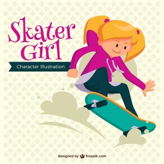 Modern skater girl