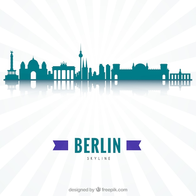 Modern skyline of berlin Free Vector