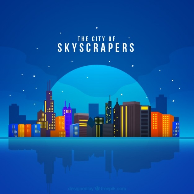 Modern skyscrapers background