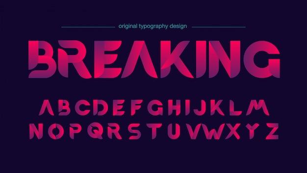 Modern sliced typography design Premium Vector