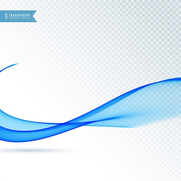 Modern smooth blue wave design