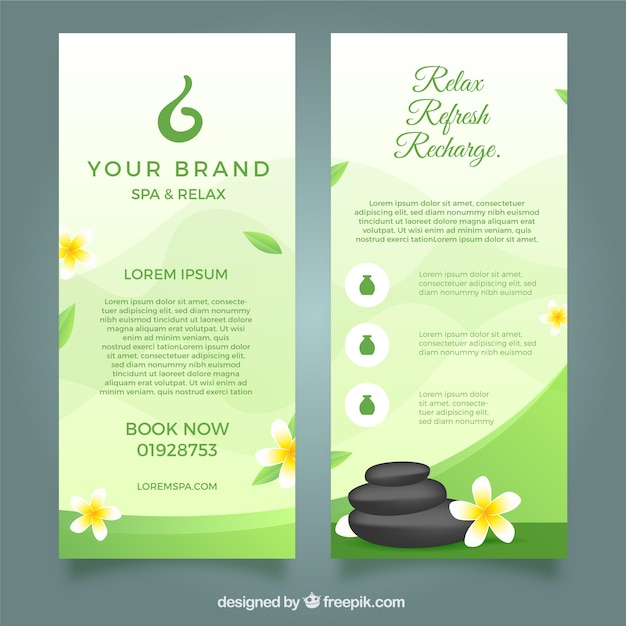modern spa flyer template with lovely style vector free download