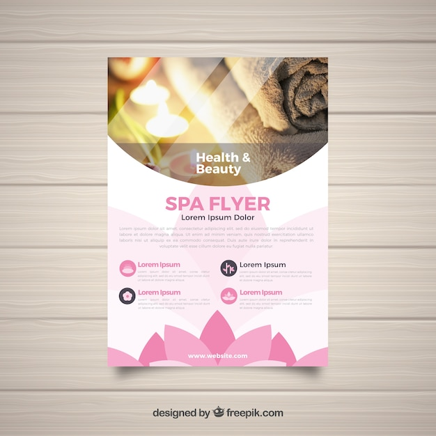 modern spa flyer template vector free download