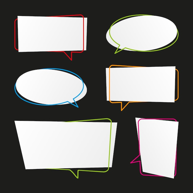 Modern speech bubbles collection Premium Vector
