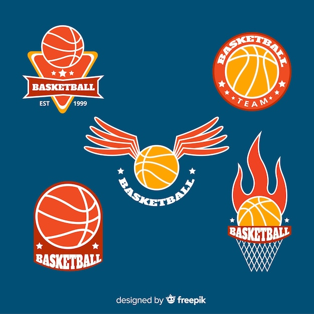 Modern sport logo collection Free Vector