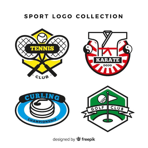 Modern sport logo collection Free Vector