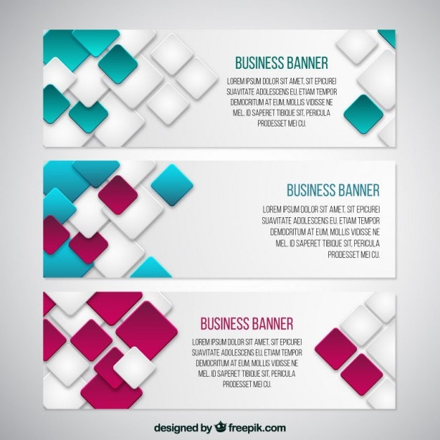 Modern squares banners of business