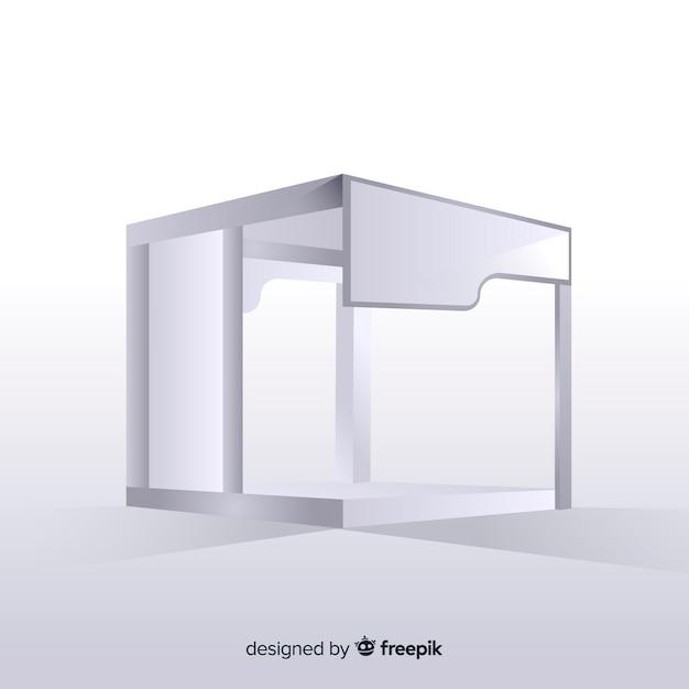現実的なデザインのモダンスタンド Premiumベクター