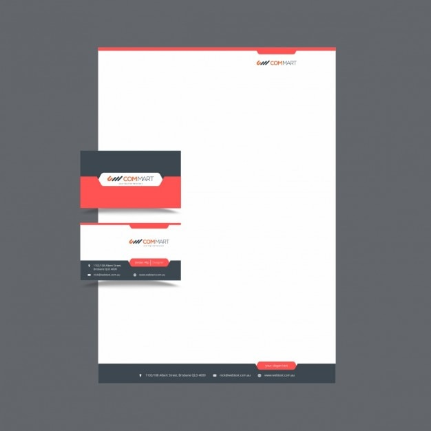 Free Vector Printable Stationery Design Template: Modern Stationery Template For Business Vector
