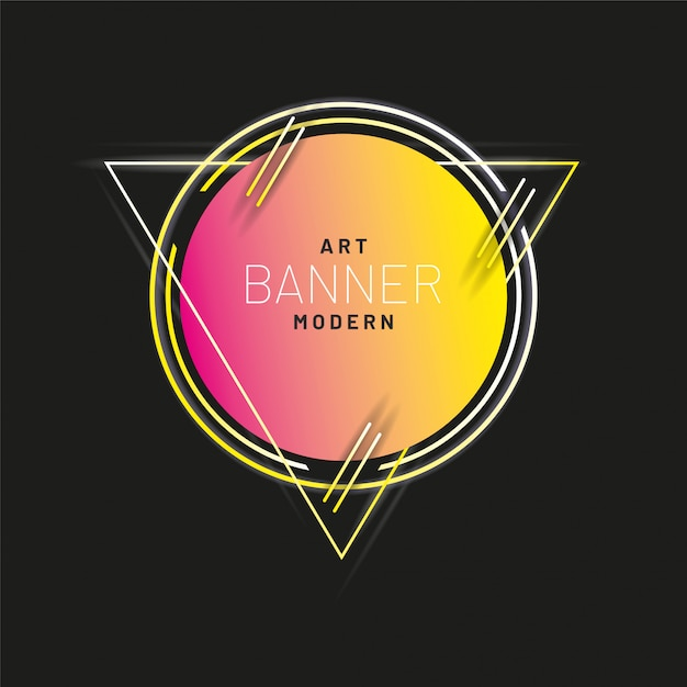 Modern style abstract banner Premium Vector