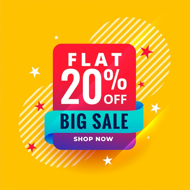 Modern style big sale banner template Free Vector