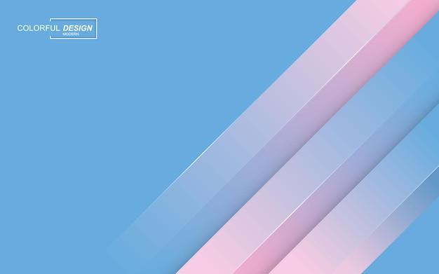 현대적인 세련 된 파란색과 분홍색 배경 프리미엄 벡터