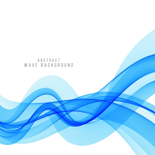 Modern stylish blue wave background Free Vector