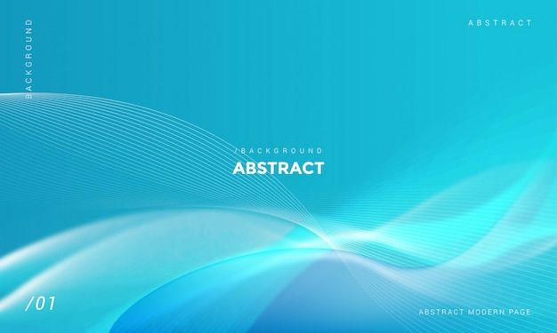 Modern stylish blue wave shiny background Premium Vector