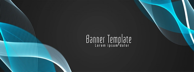 Modern stylish colorful wavy banner Free Vector