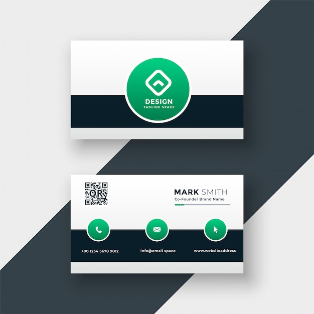 Modern stylish company business card template vector illustration Free Vector