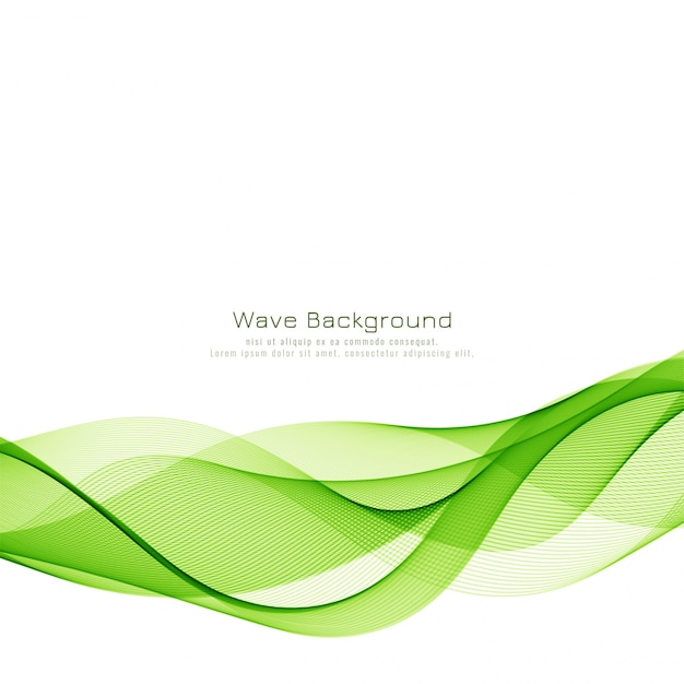 Modern stylish green wave background Free Vector