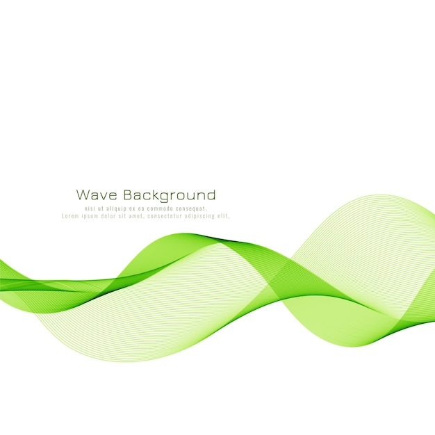 Sfondo moderno elegante onda verde Vettore gratuito