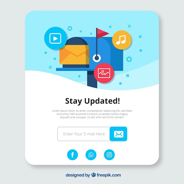 Modern subscription pop up with flat design Free Vector