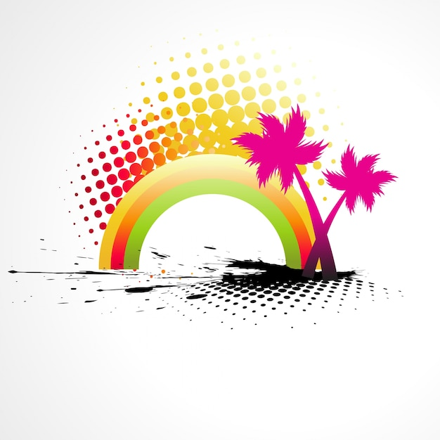 Modern summer background design