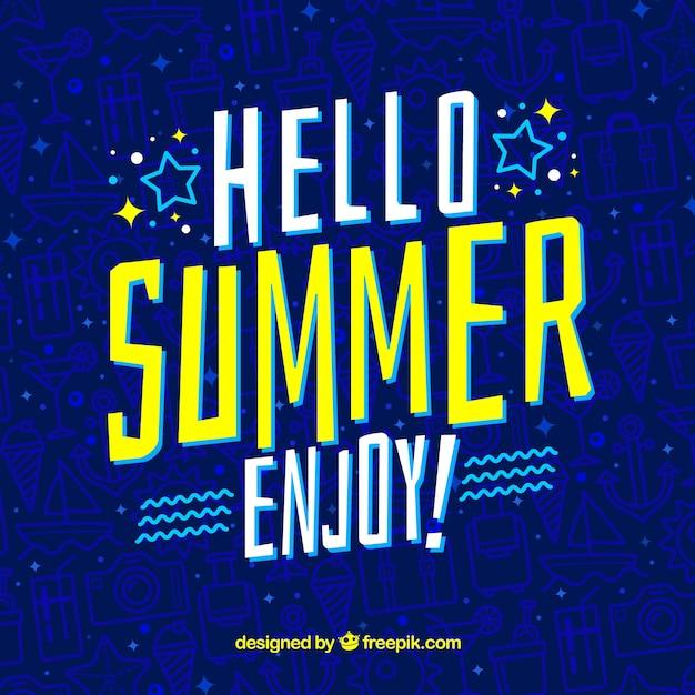 Modern summer background Free Vector