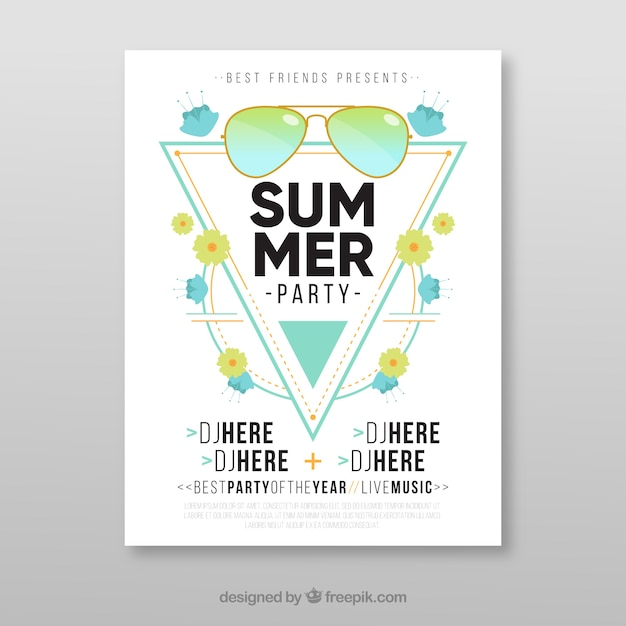 Modern summer party brochure