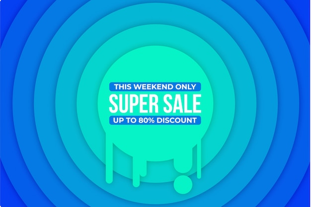 Modern super sale banner background  , Premium Vector