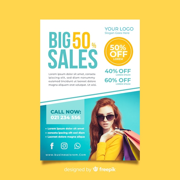 modern super sale flyer template vector free download