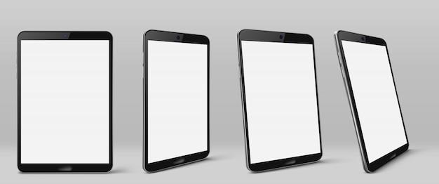 빈 화면이 현대 태블릿 컴퓨터 무료 벡터