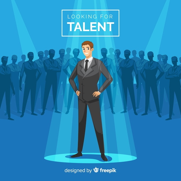 Modern talent search composition Free Vector