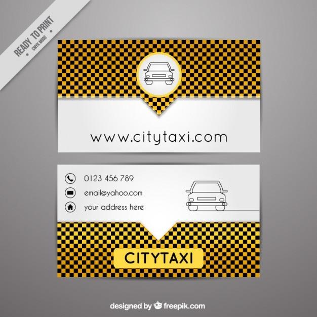 Modern taxi card Free Vector