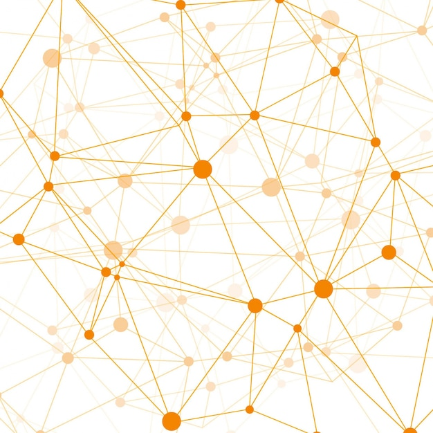 Modern technology background with orange dots