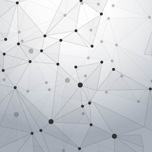 Modern technology background with polygonal\ dots