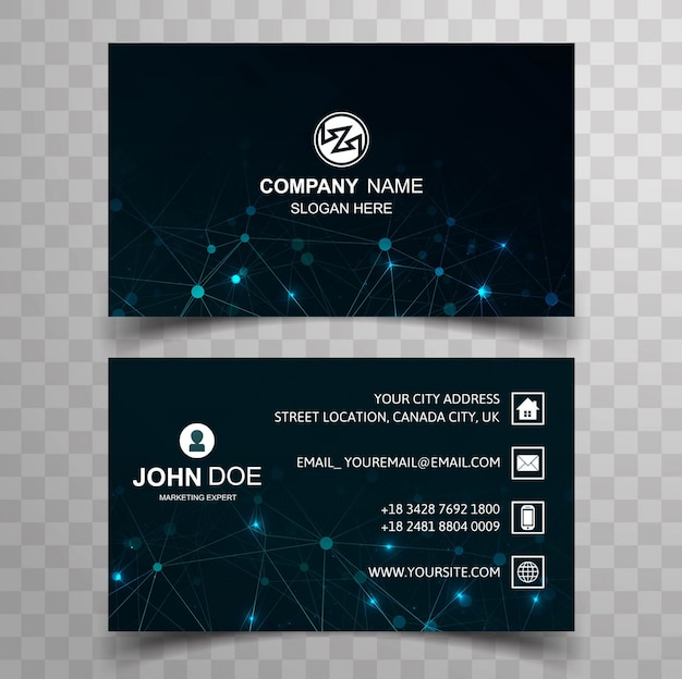 Modern technology business card vector free download modern technology business card free vector reheart Gallery