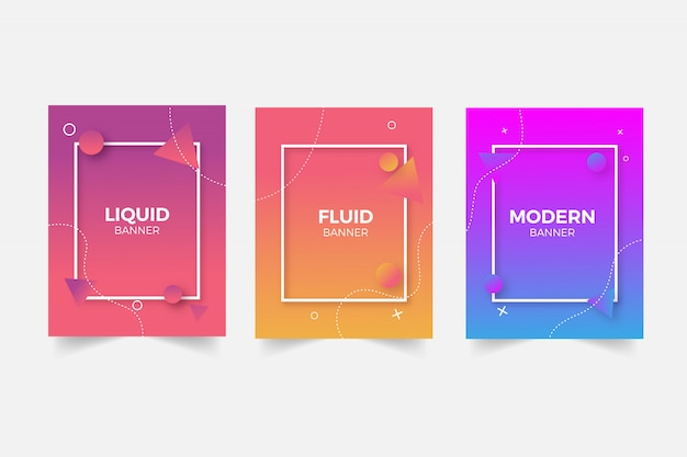 Modern template collection Free Vector