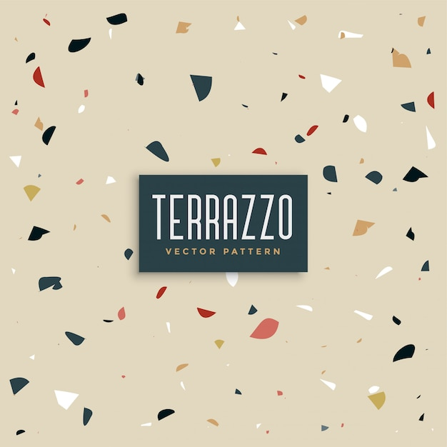 Modern terrazzo texture design background Free Vector