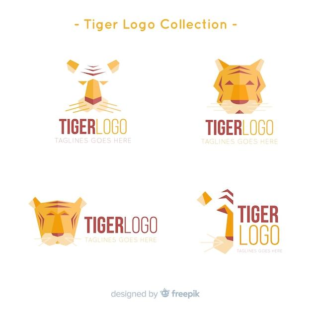 Collezione logo moderno tigre Vettore gratuito