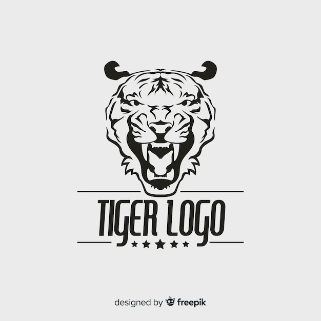 Modern tiger logo template Free Vector