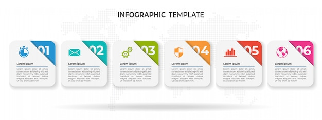 Modern timeline infographic  options. Premium Vector