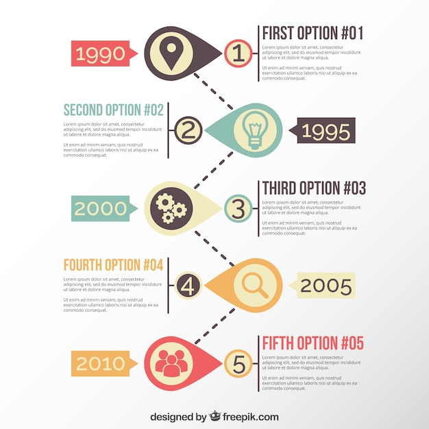 Modern Timeline Template Vector Free Download