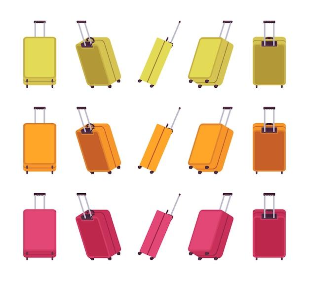 Modern travel suitcases Premium Vector