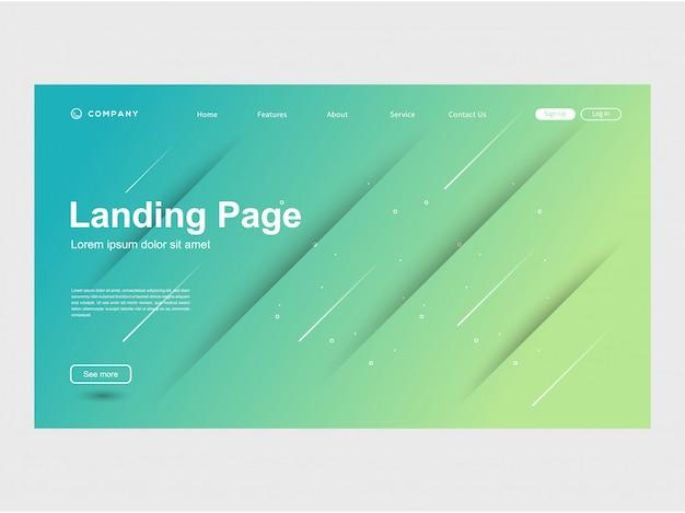 Modern trendy color gradation website template Vector