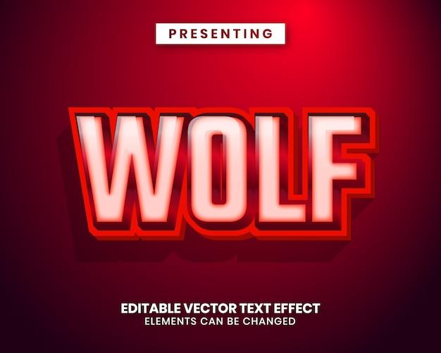 Modern trendy editable text effect Premium Vector